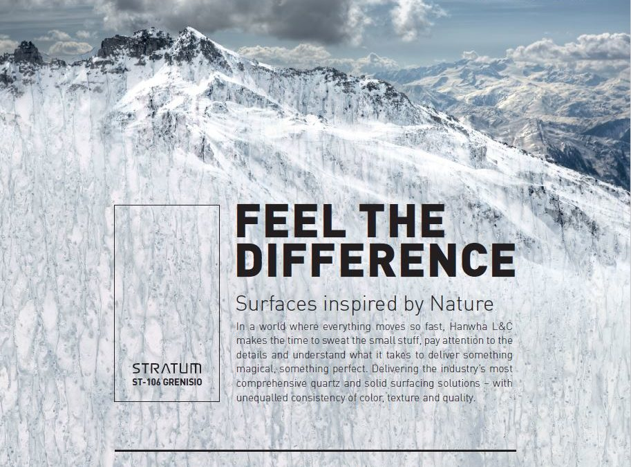 Hanex® Solid Surfaces in LEAF megazine